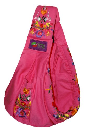 Amazon Com Baba Slings Embroidered Baby Carrier Pink Child