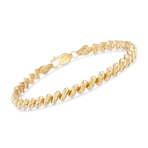 Ross-Simons Italian 18kt Yellow Gold Over Sterling Silver San Marco Bracelet