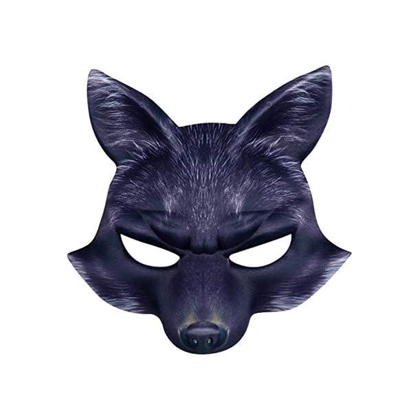 Halloween-Half-Face-FchseMaske-MOIKA-Venezianische-Maske-Maskerade-Maske-Valentinstag-Party-Mardi-Gras-Unisex-Schurken-Kostm-Schwarz-Einheitsgre