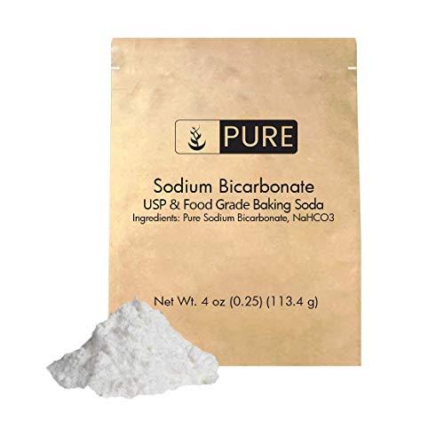 - Sodium Bicarbonate by Pure Organic Ingredients (4 oz.), Baking Soda, Highest Purity, Food & USP Grade