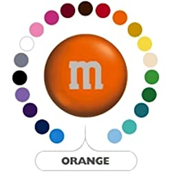 M&M's Orange Milk Chocolate Candy 5LB Bag