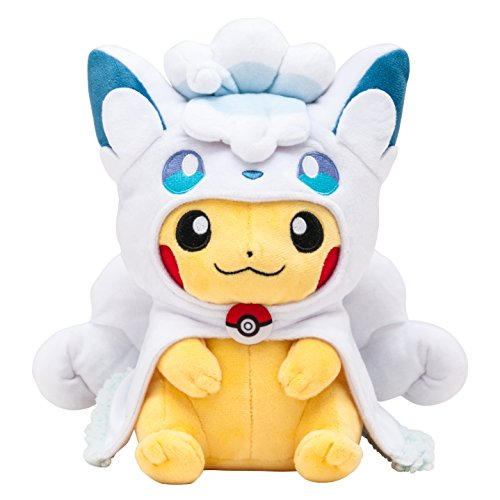 Pokemon Center Original Arora Rocon Poncho's Pikachu - China Plush
