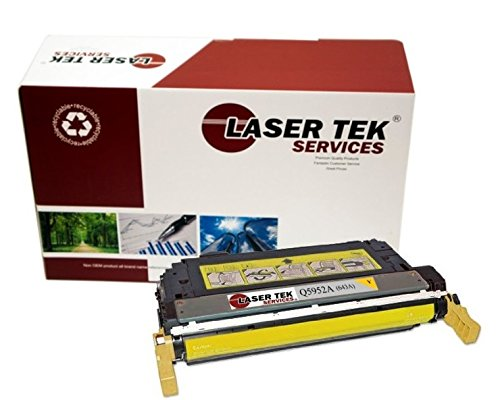 Laser Tek Services Compatible 643A Toner Cartridge Replacement for the HP Q5952A. (Yellow, (Q5952a Compatible Yellow Laser)