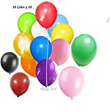 Arts & Crafts : King's deal 100(10color x 10) Latex Balloons - 11 Inch - Assorted Colors