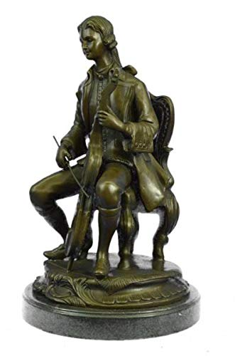 Fascinating Large Size Man Playing Music Statue with Musical Instruments Cello Player Bronze ()