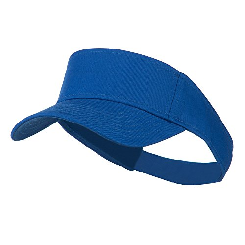 Otto Caps Youth Cotton Sun Visor - Royal (Royal Youth Visor)