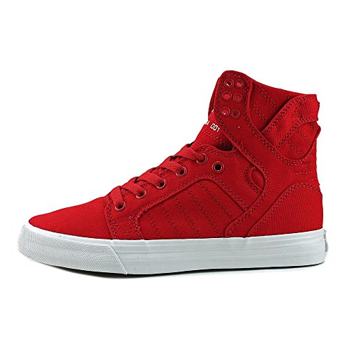 Supra Womens Skytop D Red White Skate Shoes