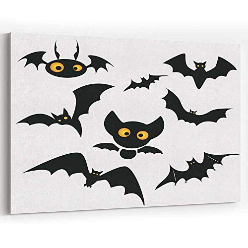 Halloween bat Clip Art jeffcyb Isolated on a White Canvas Art Wall Dector for Modern Home Decor]()