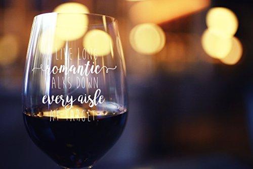 I Like Wine Glasses Long Romantic Walks At Target Funny 15oz