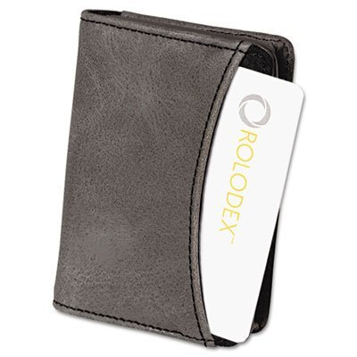 Rolodex Identity Black Fabric Interior Personal Business Card Case -