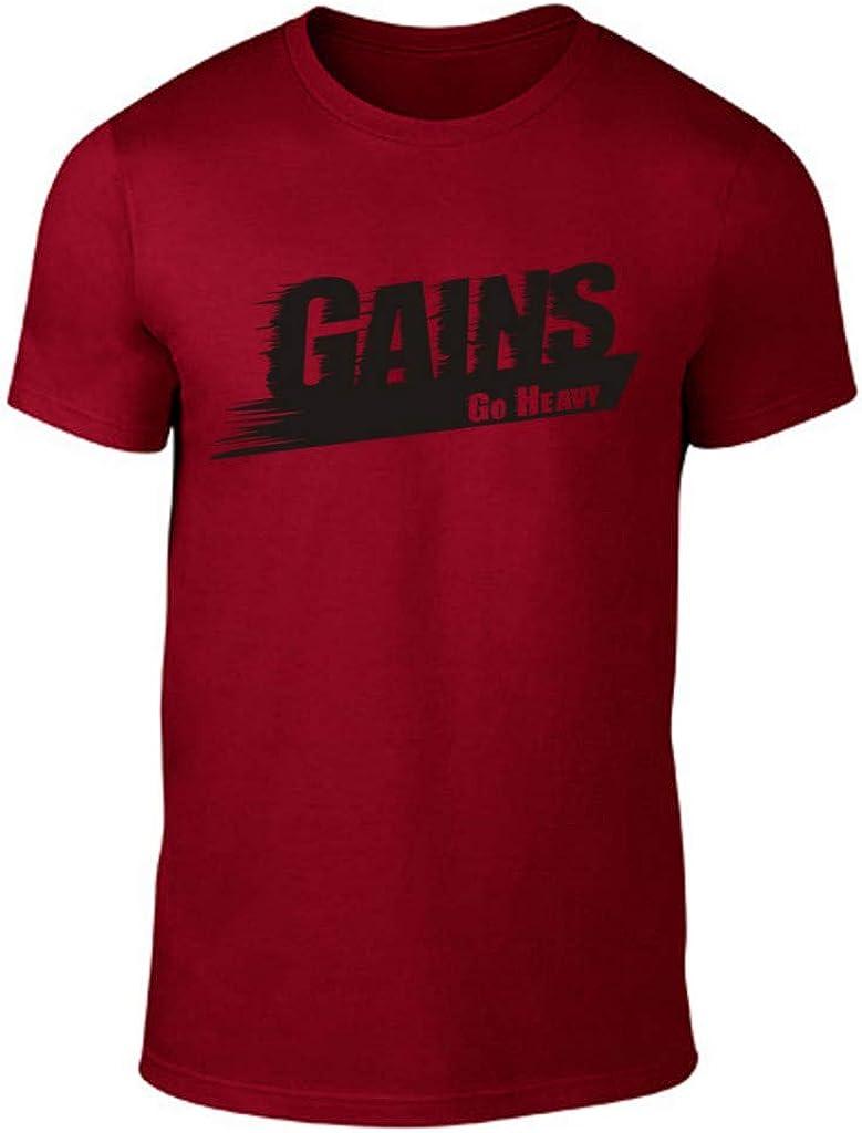 GO HEAVY Camiseta para Hombre - Gains - Rojo