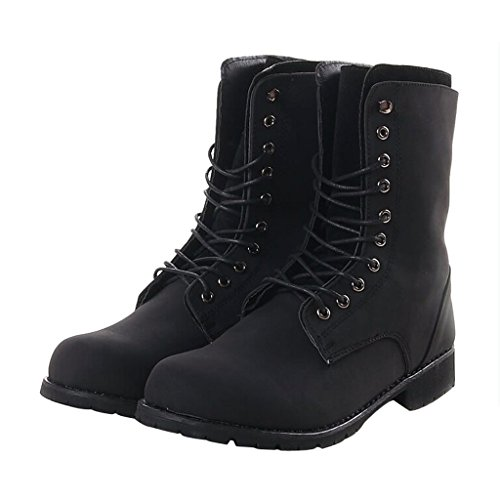 Dear Time Men Lace Up Marten Ankle Boots Black yBbRkwhgC