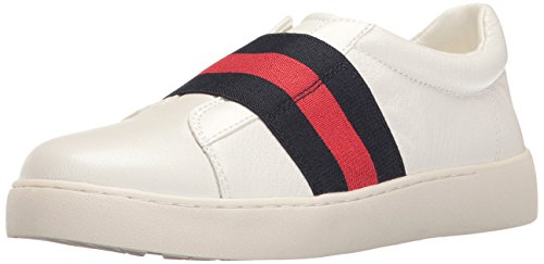 Nine West Women's Pirin Leather Fashion Sneaker, White/Multi, 6.5 M US