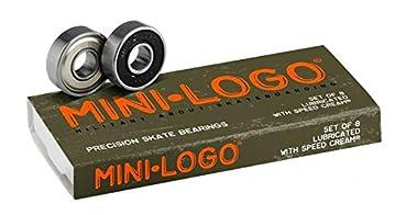 Mini-Logo Skateboards Bearings (Pack of 8), Silver