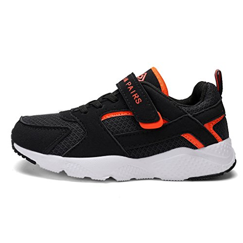 DREAM PAIRS Toddler 160425-K Dk.Grey Orange Athletic Running Shoes Sneakers - 6 M US Toddler (Advance Comfort Footwear)