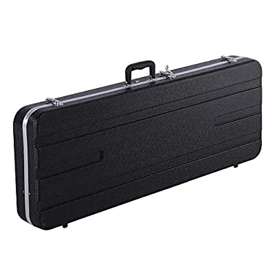 Yaheetech ABS Electric Guitar Case Elegant Hardshell Case for Strat/Telecaster Style Flight with Lock Latch Keys Black