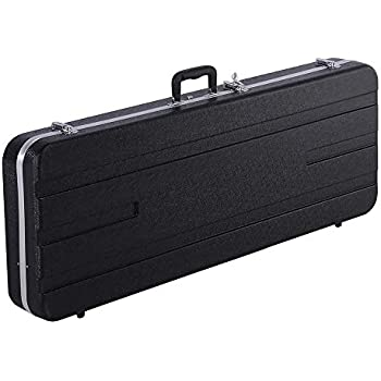 32f174be07d Yaheetech ABS Electric Guitar Case Elegant Hardshell Bass Case for  Strat/Telecaster Style Flight with Lock Latch Keys Black