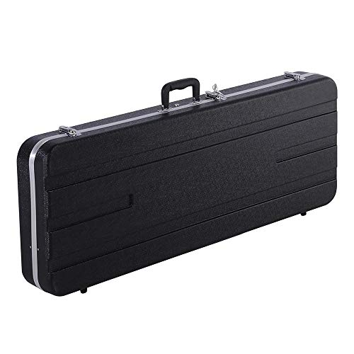 (Yaheetech ABS Electric Guitar Case Elegant Hardshell Case for Strat/Telecaster Style Flight with Lock Latch Keys Black)