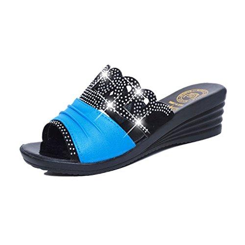 BOOWJESSSA - Zapatillas de estar por casa de Material Sintético para mujer blanco