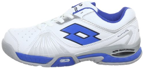 Lotto Sport RAPTOR ULTRA IV JR Tennis Shoes Boys White Weiß (WHITE BLUE)  Size  30  Amazon.co.uk  Shoes   Bags 7665f8cd8ae