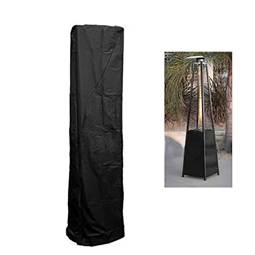 QEES Patio Heater Cover, Heavy Duty Waterproof Outdoor Heater Cover for Pyramid Torch Patio Heaters, Triangle Glass Tube Heater JJZ23 (Black)