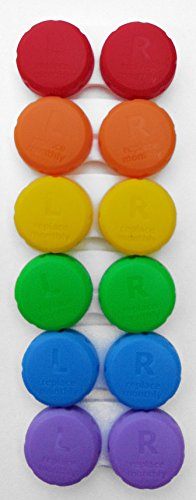 Contact Lens Cases 6-Pack Rainbow Colors by CleanEyes (Orange Contact Lenses)