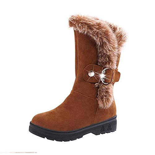 Stivali Yhooee Brown Stivaletti Outdoor Pelliccia Ladies Piatto Caldo axCqdwC