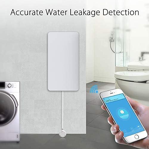 unabh/ängiger WLAN-Wasserleck-Sensor /Überlauf-Alarm JINQII Tuya Intelligenter WLAN-Wasserleck-Alarm