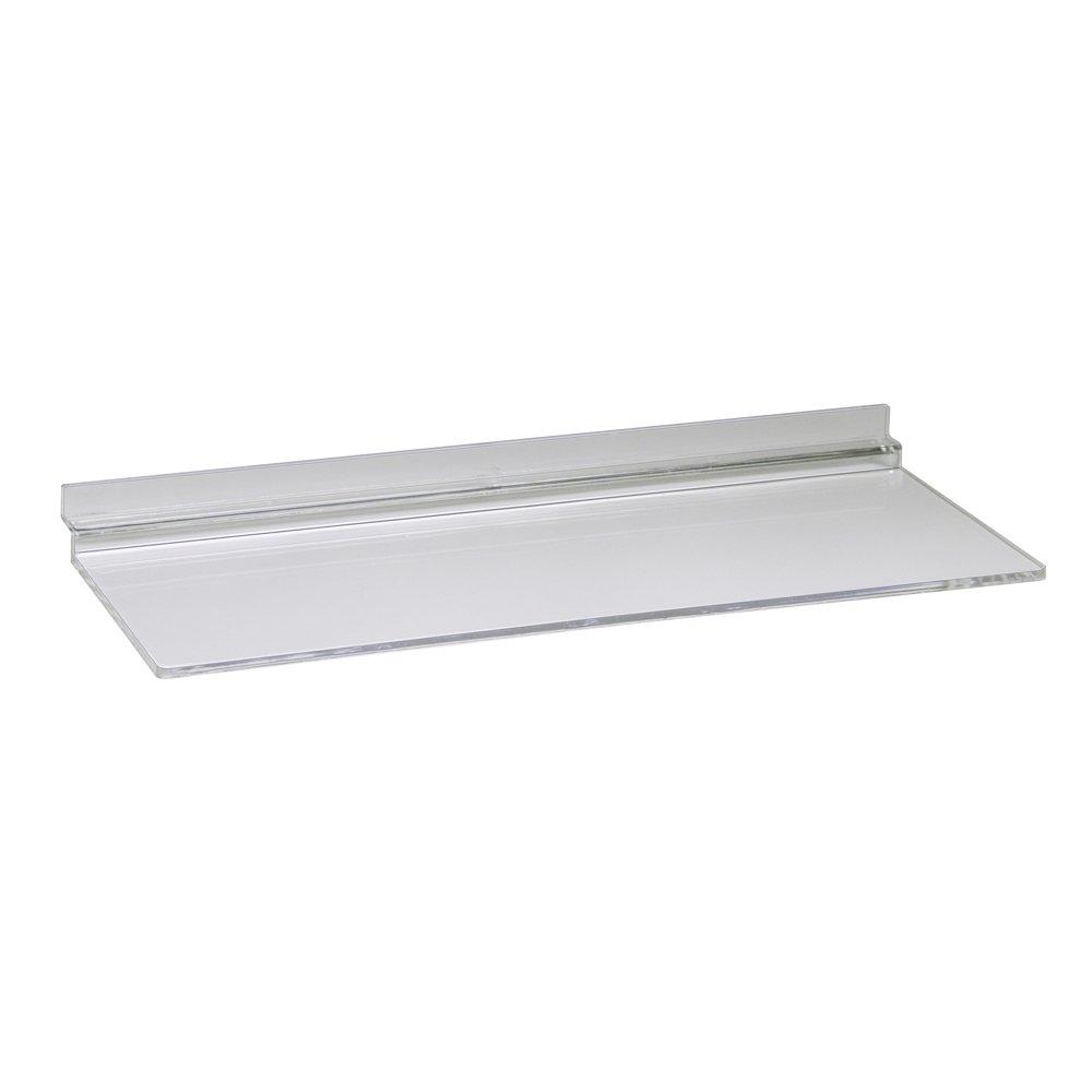 Econoco JM410/AC Injection Molded Acrylic Shoe Shelf, Clear (Pack of 100)