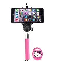 Vivitar Sakar TR-42009 Hello Kitty Handheld Monopod Selfie Stick with Bluetooth Remote (Pink/Silver)