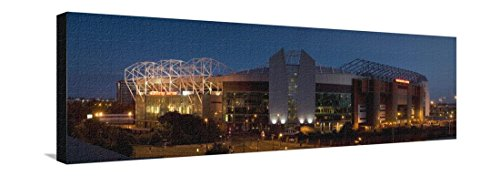 Football Panoramic Print (Football Stadium Lit Up at Night, Old Trafford, Greater Manchester, England Stretched Canvas Print by Panoramic Images - 42 x 14 in)