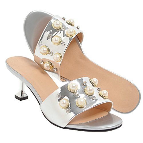 Silber Mules Femme Jyshoes Jyshoes Mules Mules Femme Silber Jyshoes HeW29IYbED
