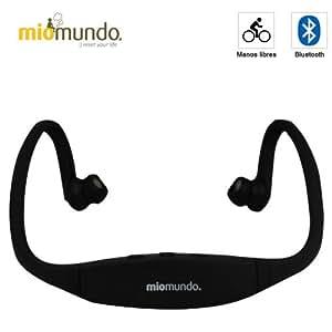 MioMundo - AURICULARES BLUETOOTH SPORT. Libertad de movimientos total gracias a su diseño único y discreto. Color negro .