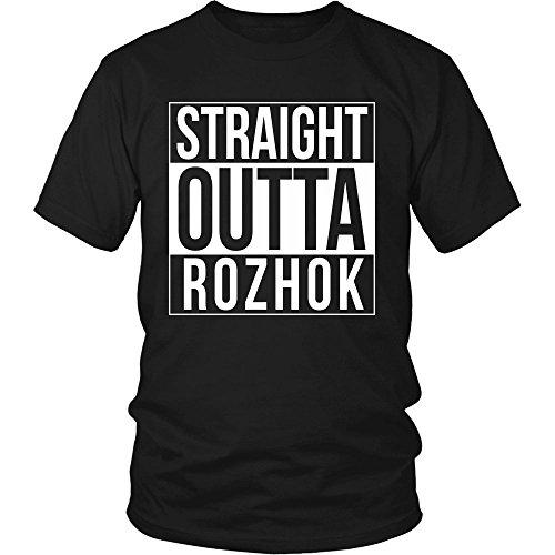 Cool Playerunknown S Battlegrounds T Shirt Large Size: Teehub Straight Outta Rozhok Shirt PUBG Battlegrounds T