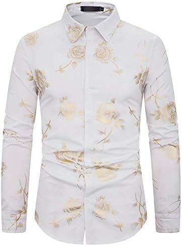 [MANMASTER(マンマスター)]長袖シャツ ワイシャツ プリントシャツ バラ 花柄 ステージ衣装 メンズ CXH98