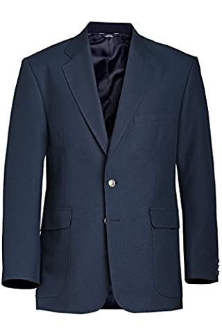 Ed Garments Men's Classic Two Button Single Breasted Blazer, DARK NAVY, 36 - Breasted Navy Blazer