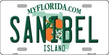 Smart Blonde Sanibel Florida Novelty Metal License Plate LP-8407