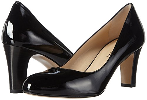 10 Punta Nero Scarpe Col Pump schwarz Tacco Evita Chiusa Donna Shoes xqUvHqp