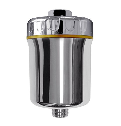 iSpring SF1S Stylish Multi-Stage High Output Shower Head Filter with Replaceable Cartridge to Remove Chlorine, Sediment, and Heavy Minerals, Silver ()