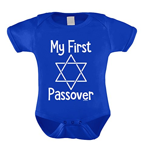 My First Passover Infant Bodysuit (Royal Blue, Newborn)