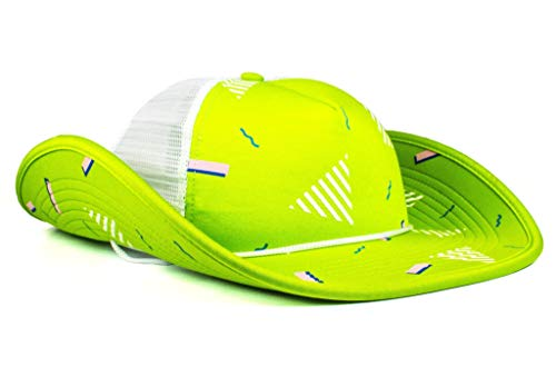 Cowbucker Party Themed Bucker Cowboy Hat (90s Neon Green) -