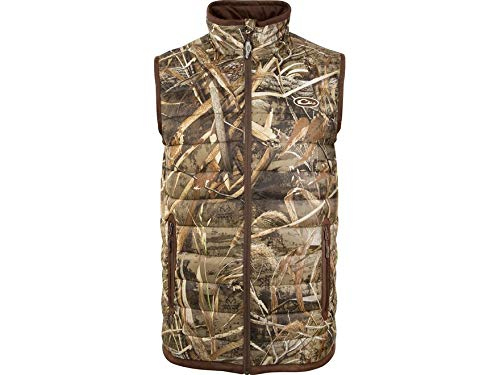Drake Men's Camo Double Down Endurance Layering Vest Polyester Realtree Max-5. by Drake