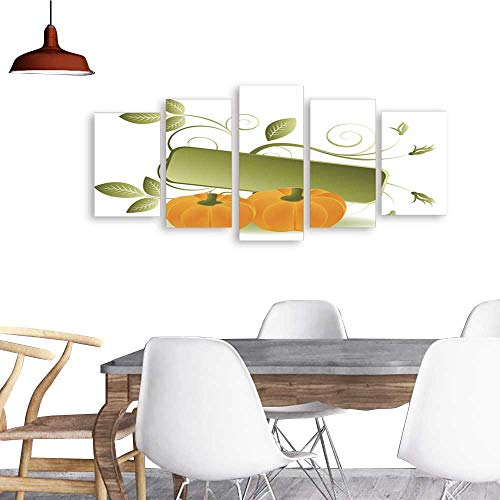 (UHOO 5 Piece Wall Art PaintingThanksgiving Concept2. All Decor Gift)