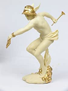 Amazon.com: Greek God Hermes Gilt Statue Sculpture Mercury ...