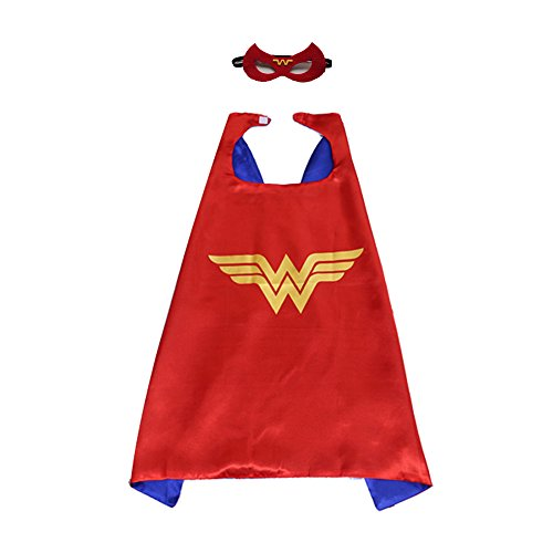 AOVCLKID Comics Cartoon Dress Up Costumes Cloak and Masks for Halloween Party (Wonder Woman,Red 2) - Wonder Woman Mask