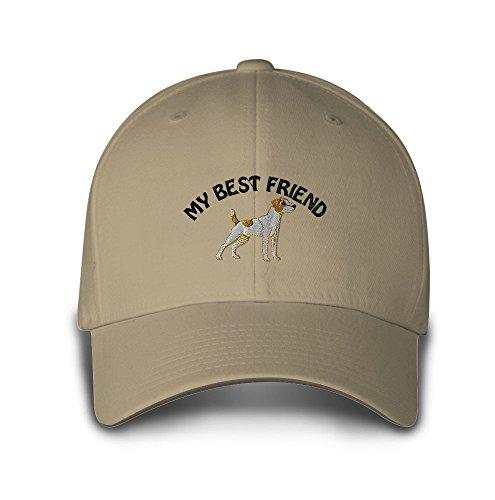 Jack Russell Terrier Embroidery (MY BEST FRIEND JACK RUSSELL TERRIER Embroidery Embroidered Hat Baseball Cap Khaki)