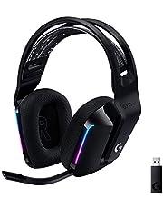 Logitech G733 LIGHTSPEED Wireless Gaming Headset with Suspension Headband, LIGHTSYNC RGB, Blue Voice Mic Techonolgy and PRO-G Audio drivers - Black