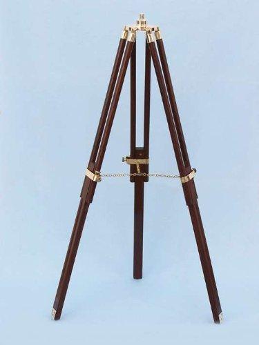 Hampton Nautical  Floor Standing Brass/Wood Harbor Master Telescope, 50'', Brass by Hampton Nautical (Image #4)
