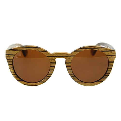 Markkeer Wooden Polarized Sunglasses With Natural Sandalwood For Men And Women New 2017 (Mei Ma wood, Gradient - Ma Sunglasses