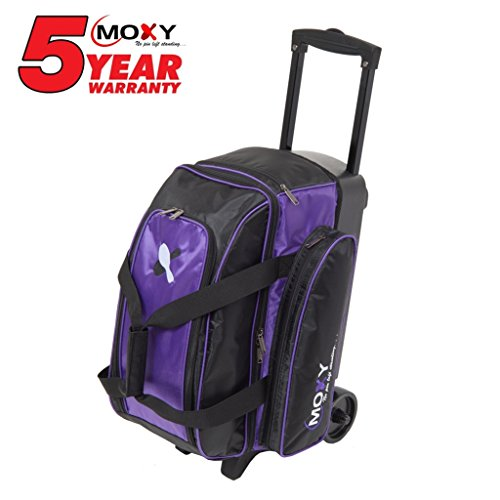Moxy Bowling Products Double Roller Bowling Bag- Purple/Black